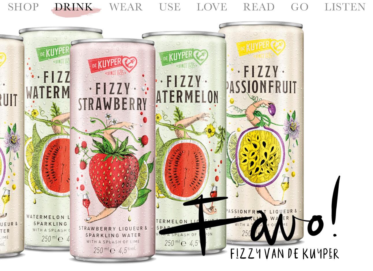 Today we drink Fizzy van De Kuyper
