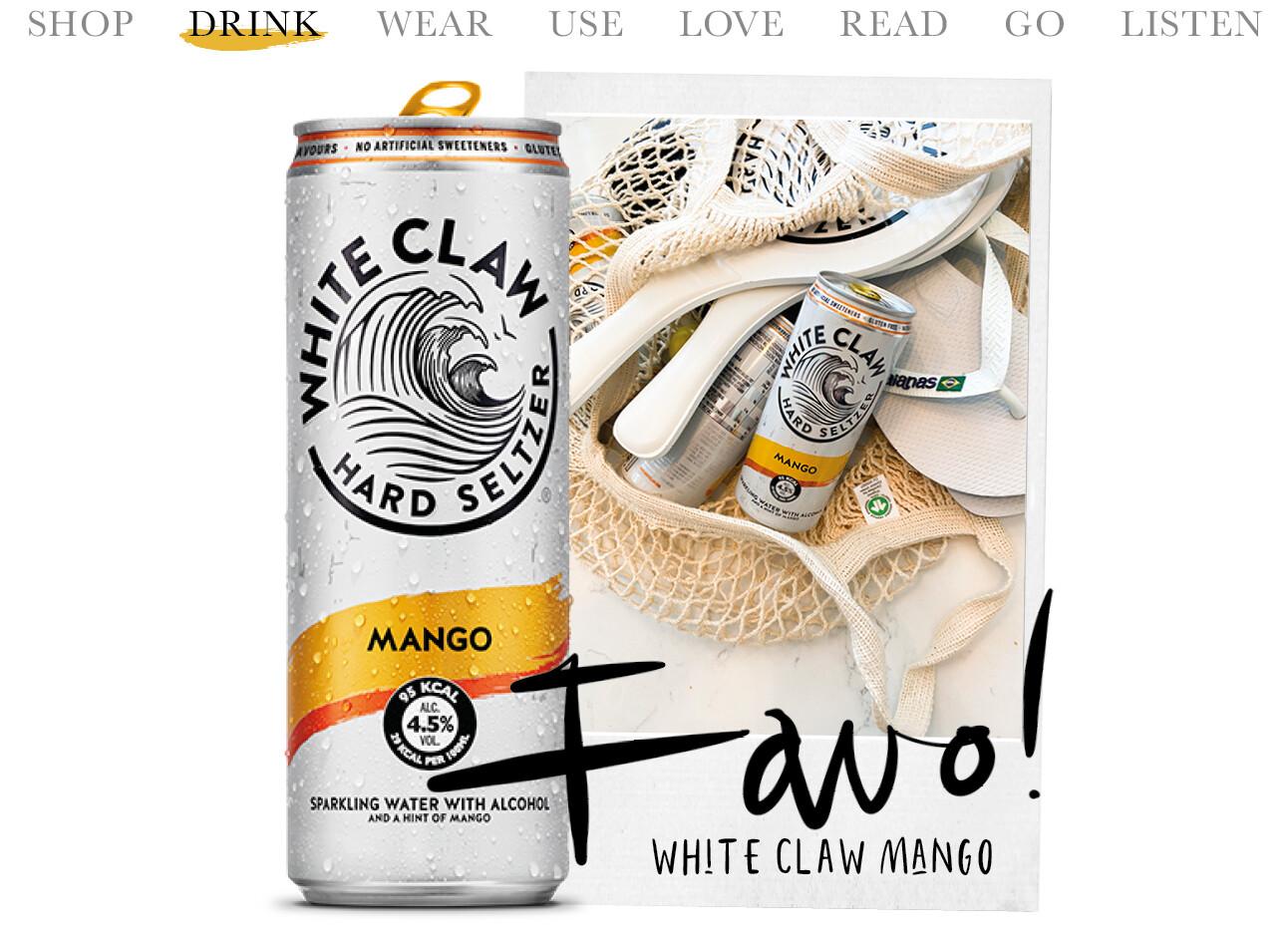 Today we drink whiteclaw mango