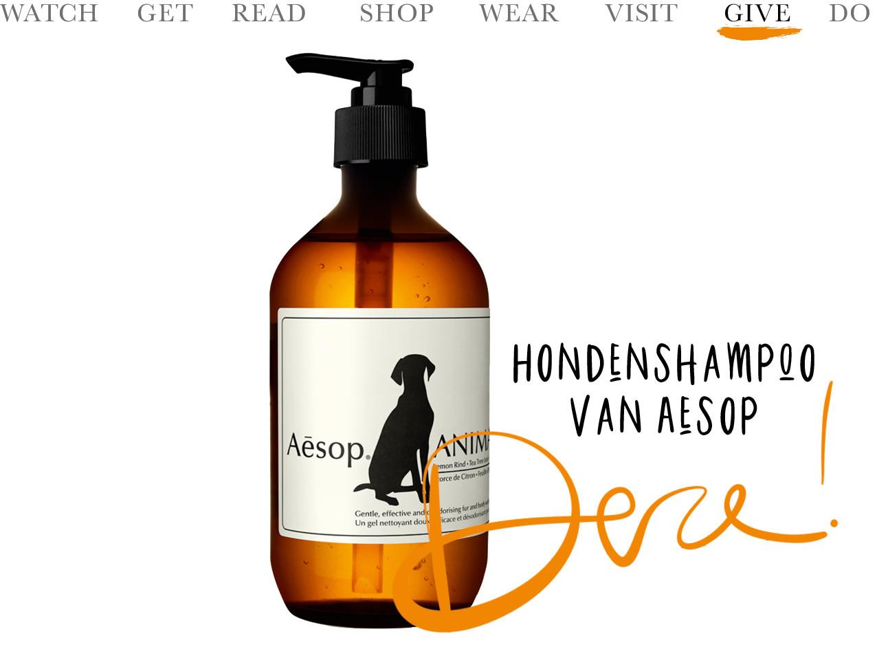 De aseop honden shampoo