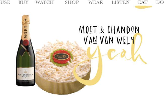 moet & chandon champagne taart van huis van Wely