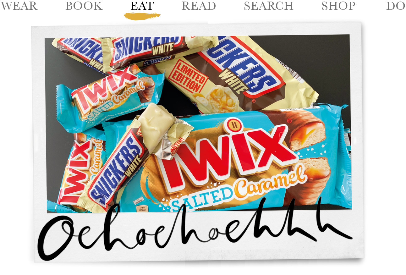 snickers white twix caramel seasalt