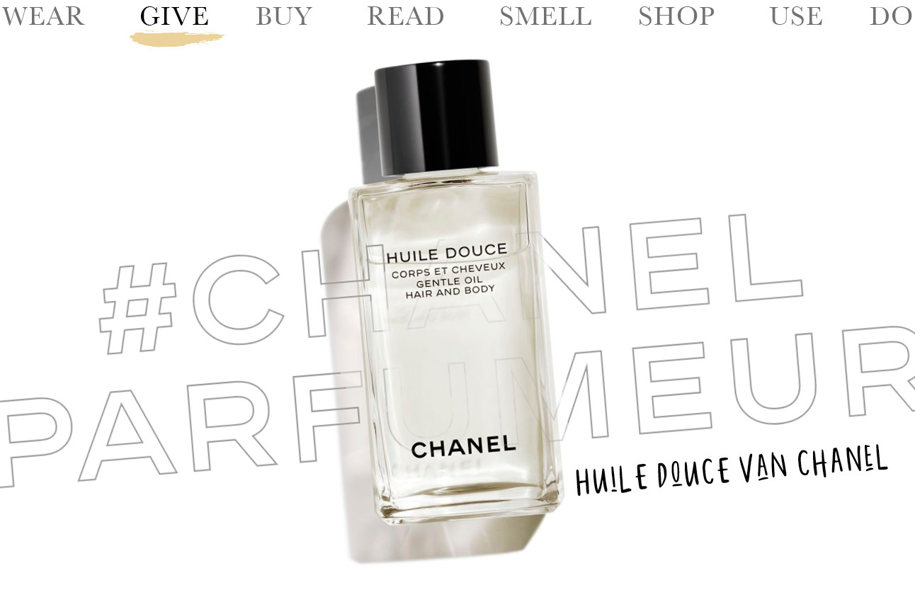 Today we…give Huile Douce van CHANEL