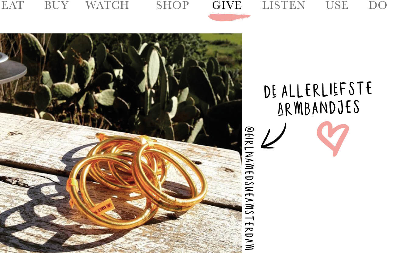 today we give gouden mantra armbandjes van girlnamedsue