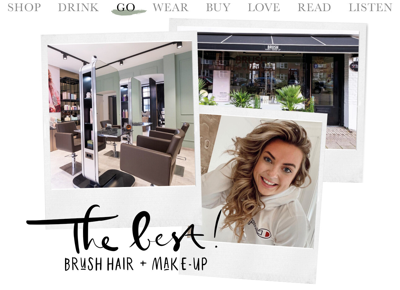 Today we go to brush hair and make-up