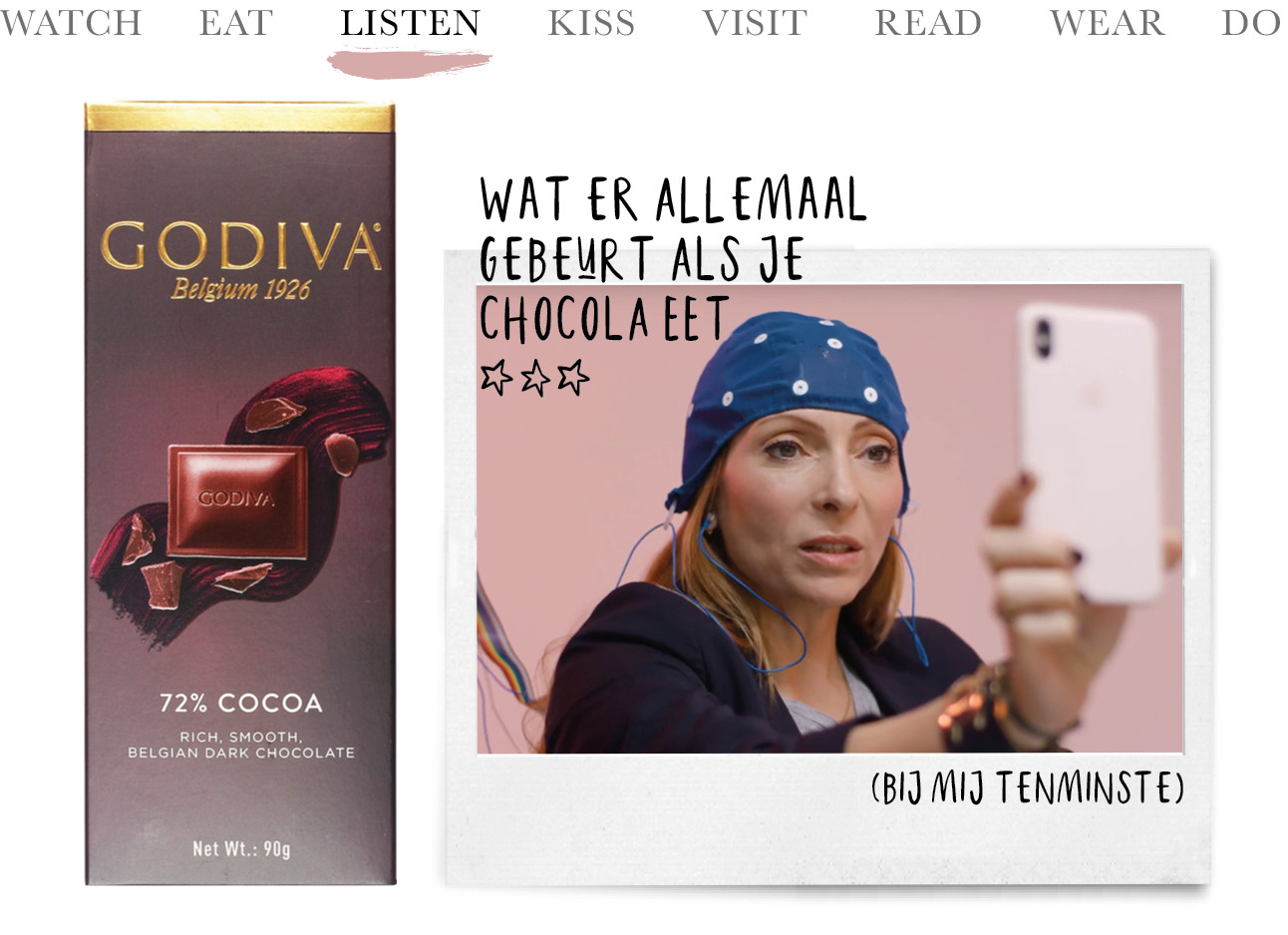 May test wat chocolade met haar hersenen doet