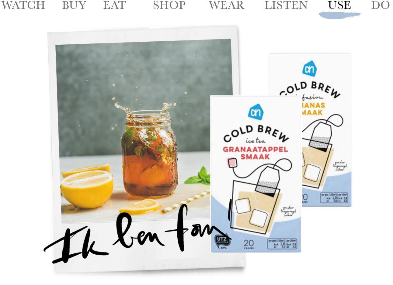 Cold Brew Ice Tea-zakjes