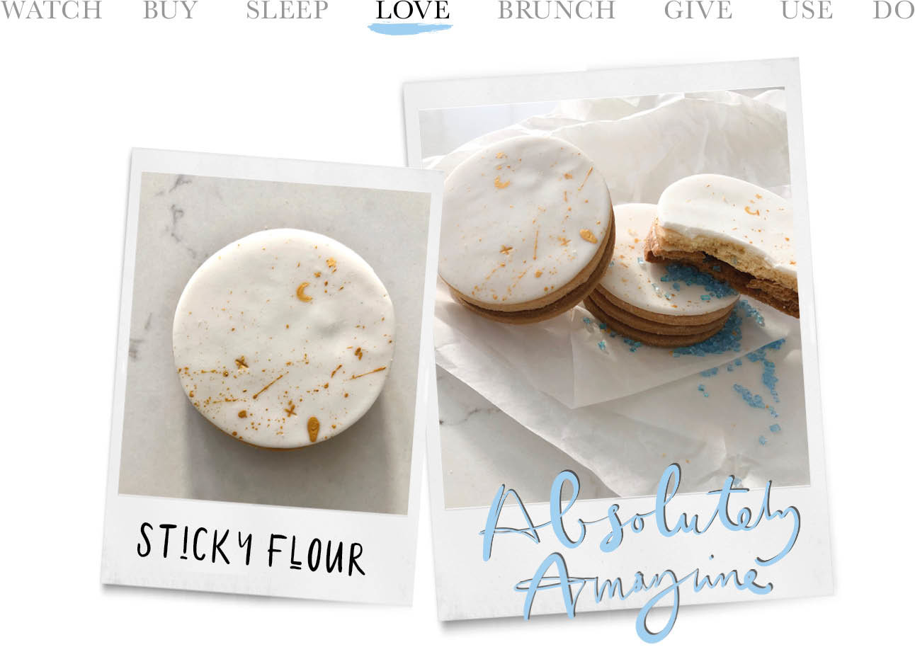 today we love sticky flour