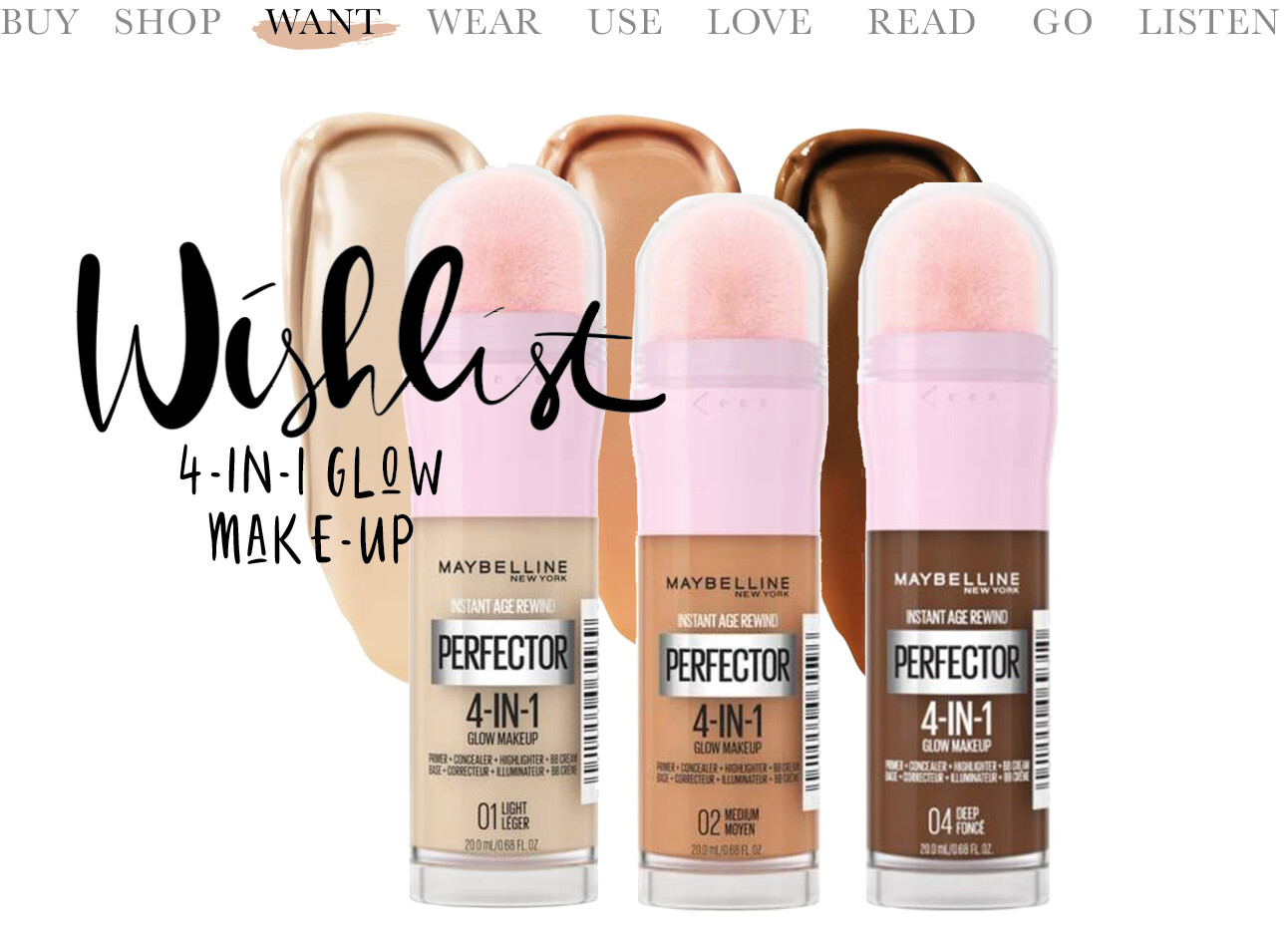Instant Perfector 4-in-1 Glow Makeup Foundation