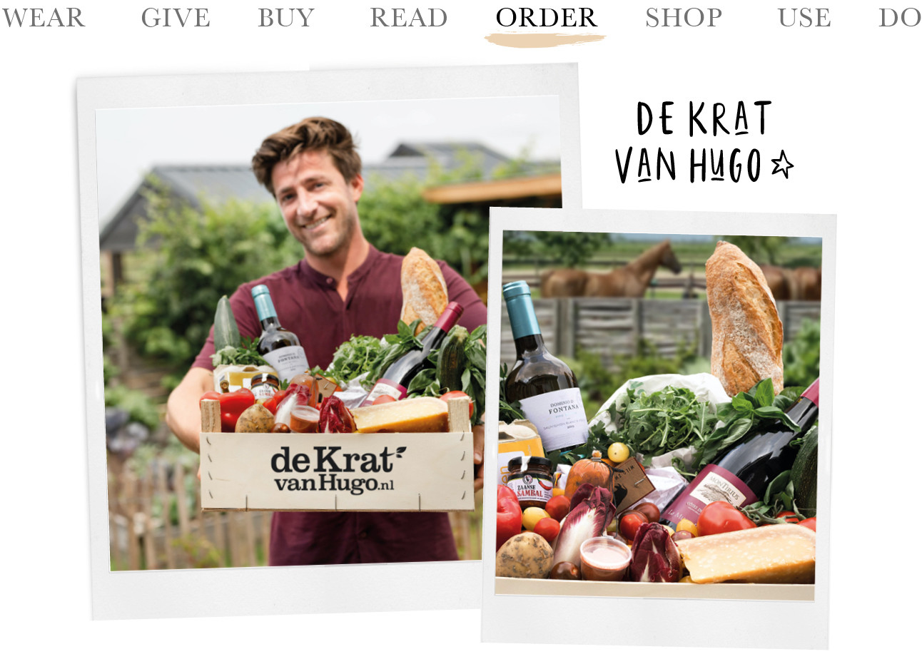 Today we order: De Krat van Hugo