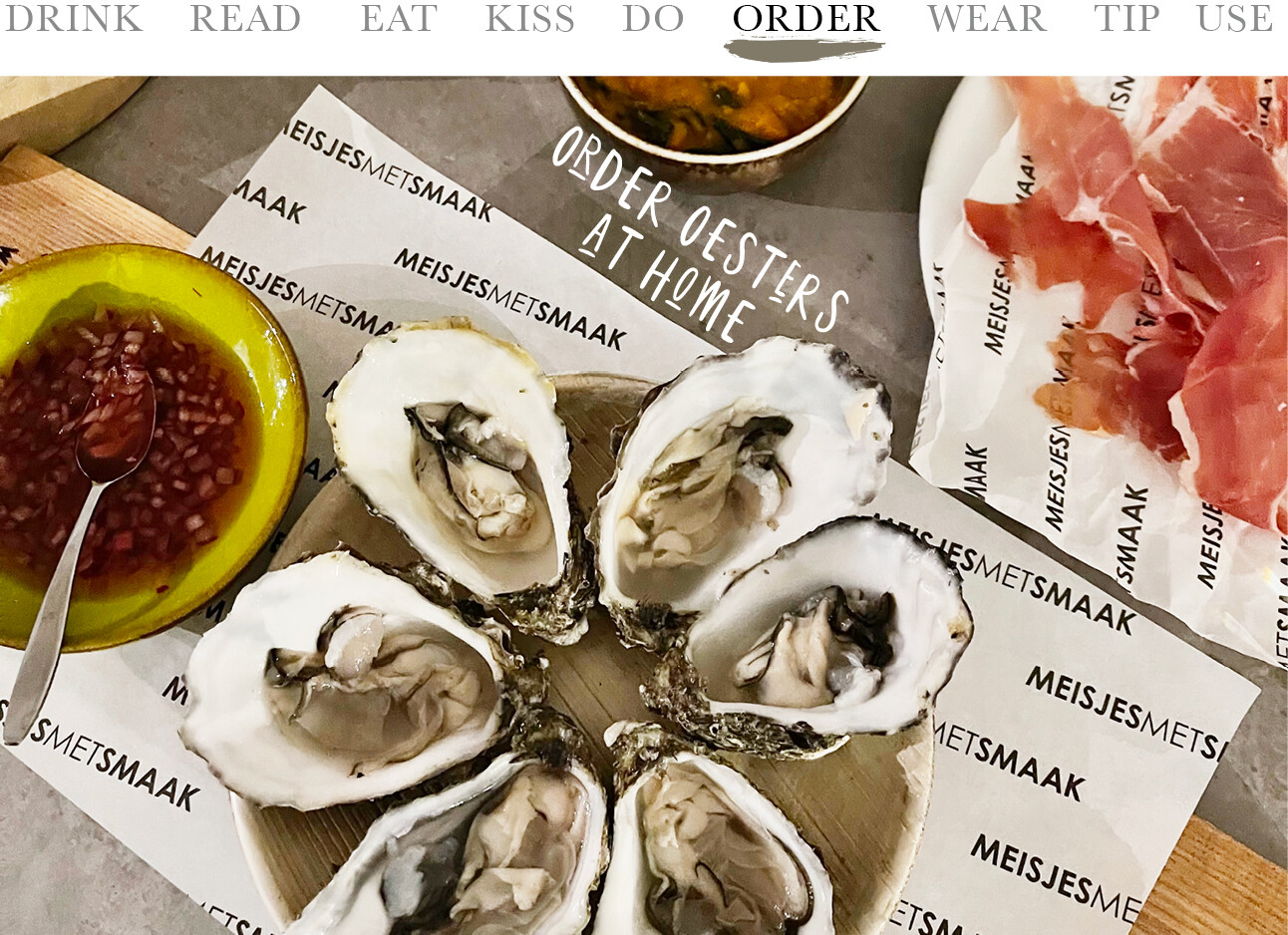 order oesters at home
