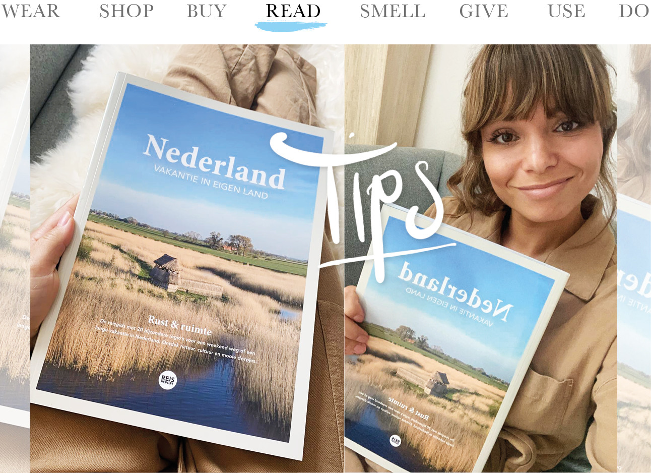 today we read nederland vakantie in eigen land