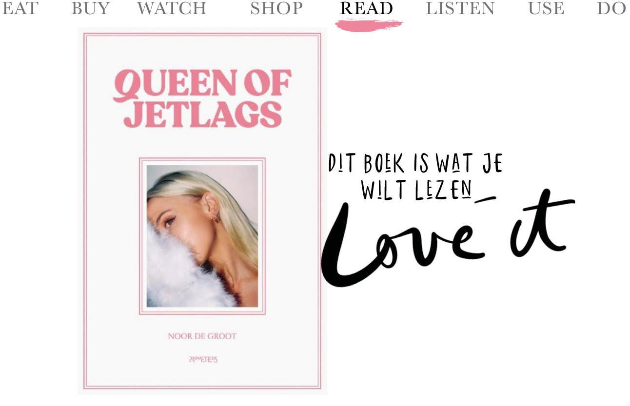 nieuwe boek van queen of jetlags