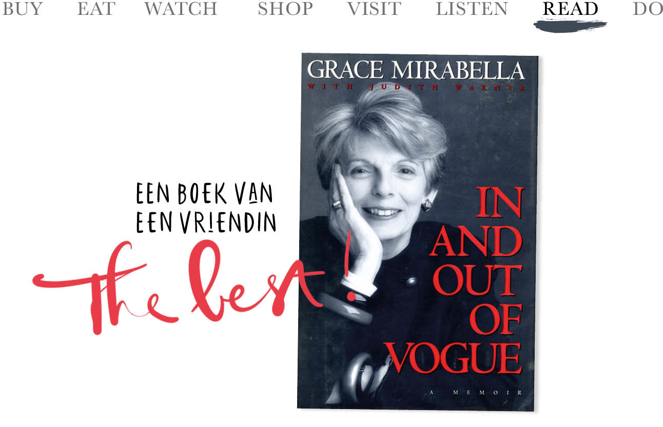 Today we.. Read Een boek van een vriendin 'In and out of Vogue'