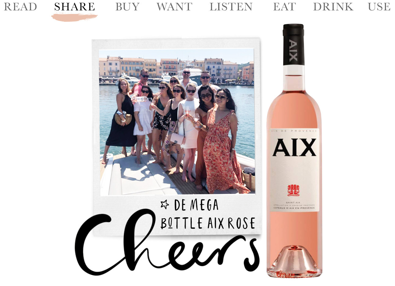 AIX rose 3 liter jumbo fles