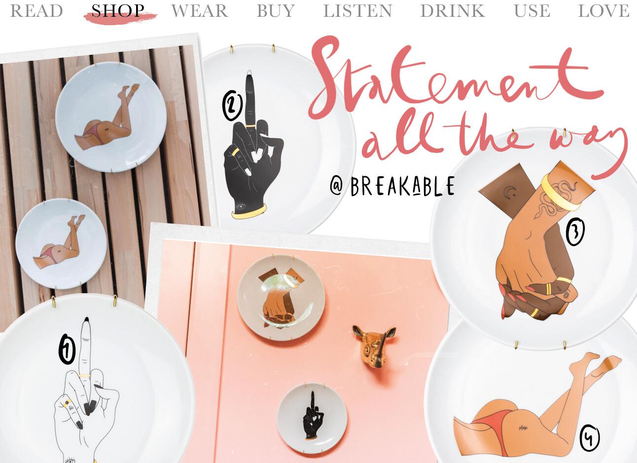 Breakable items om te shoppen