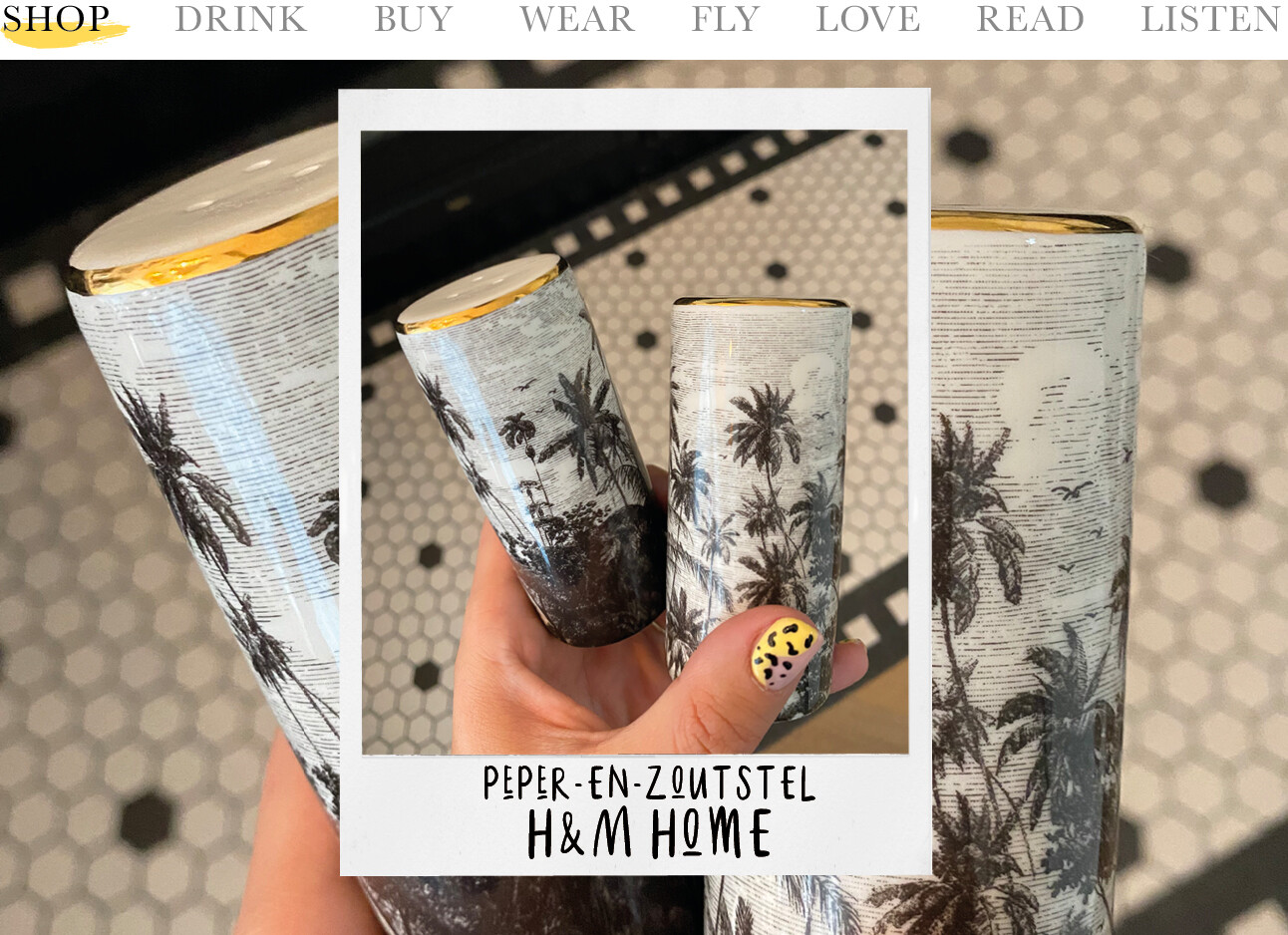 today we shop at H&M Home