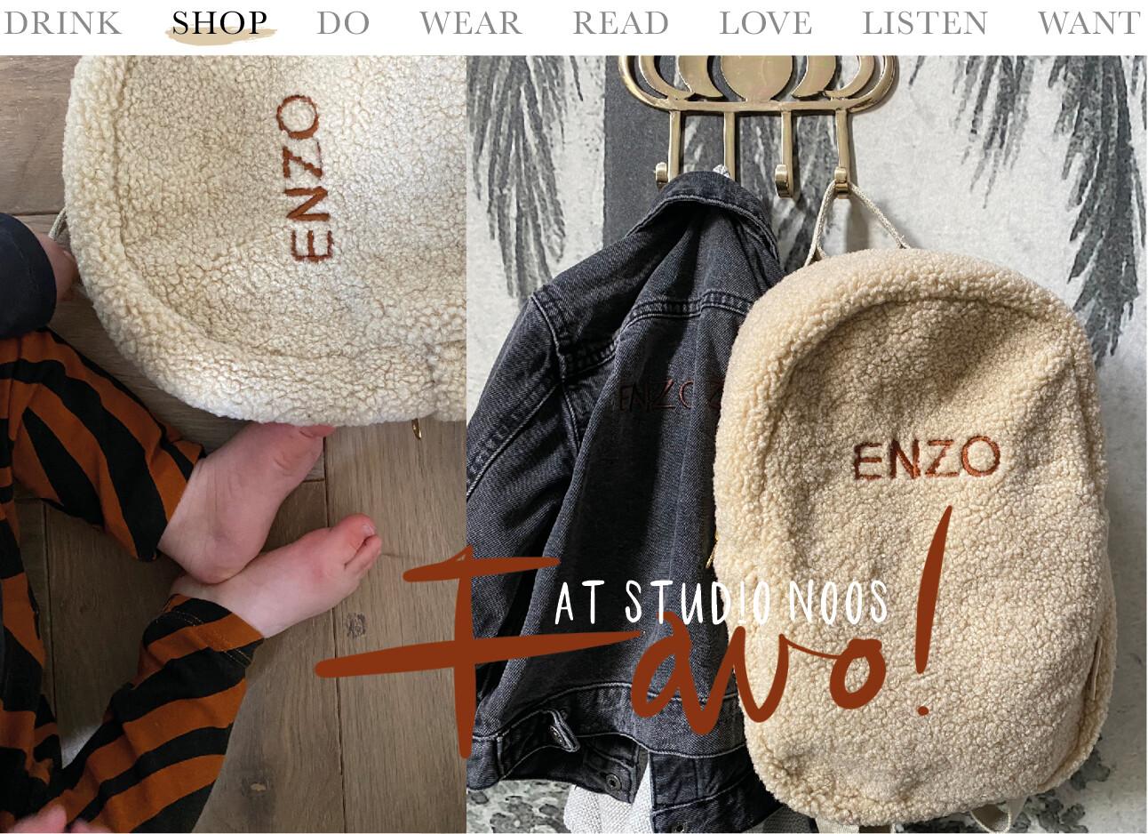 studio Noos tas van Enzo