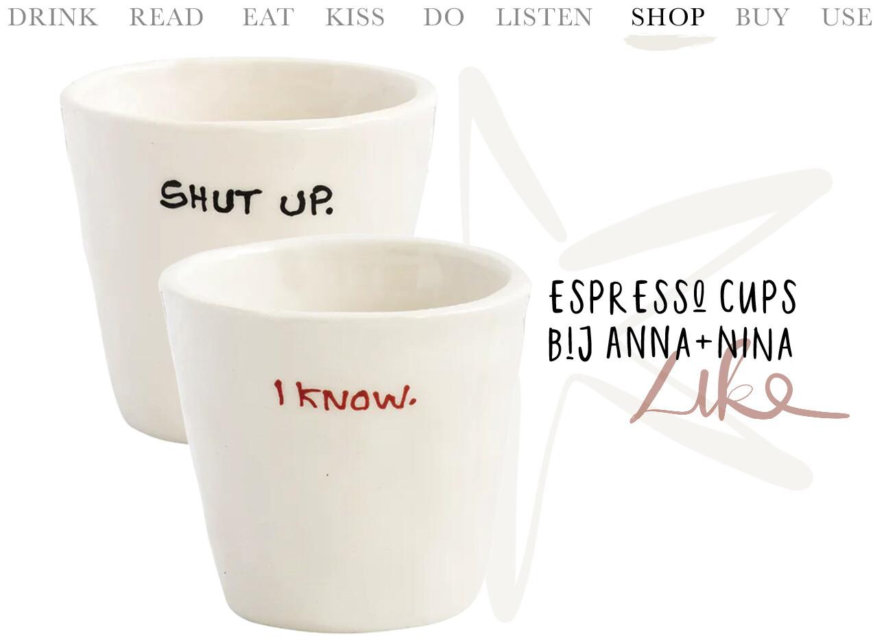Anna+Nina espresso cups