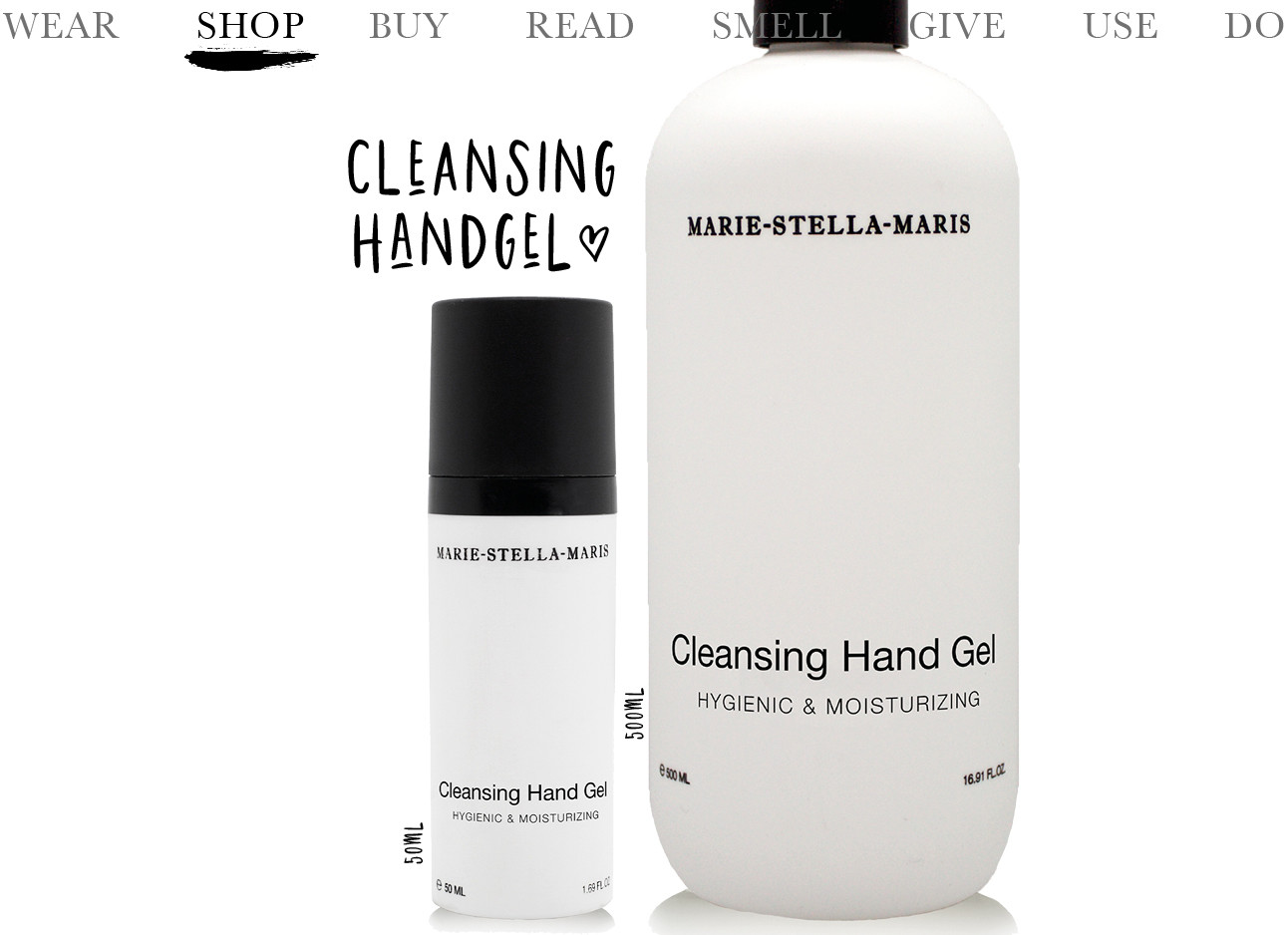 Today we use handgel van Marie-Stella-Maris