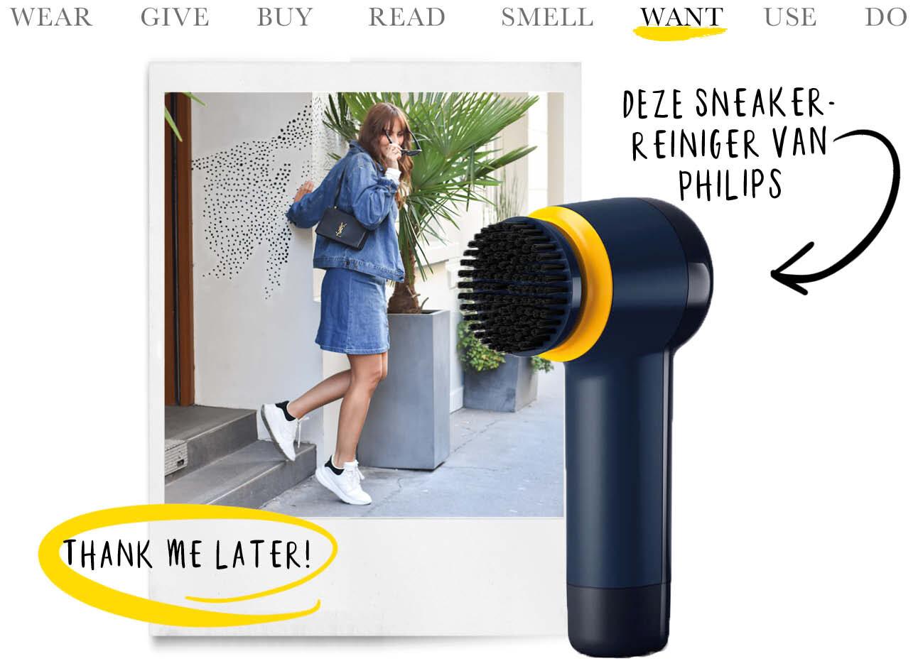 Today we want - de sneakerreiniger van Philips