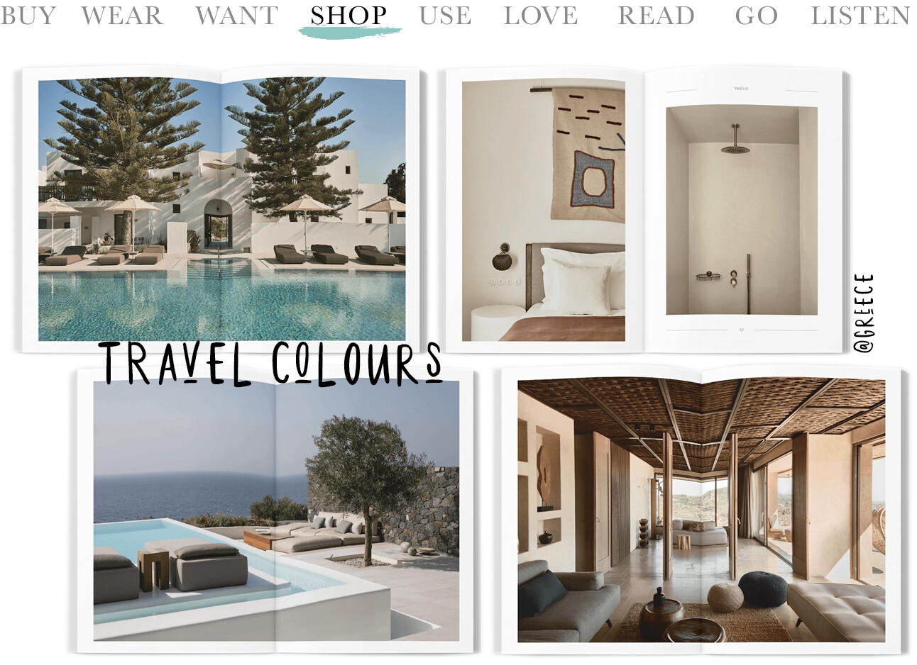 Today we shop travelcolours Greece