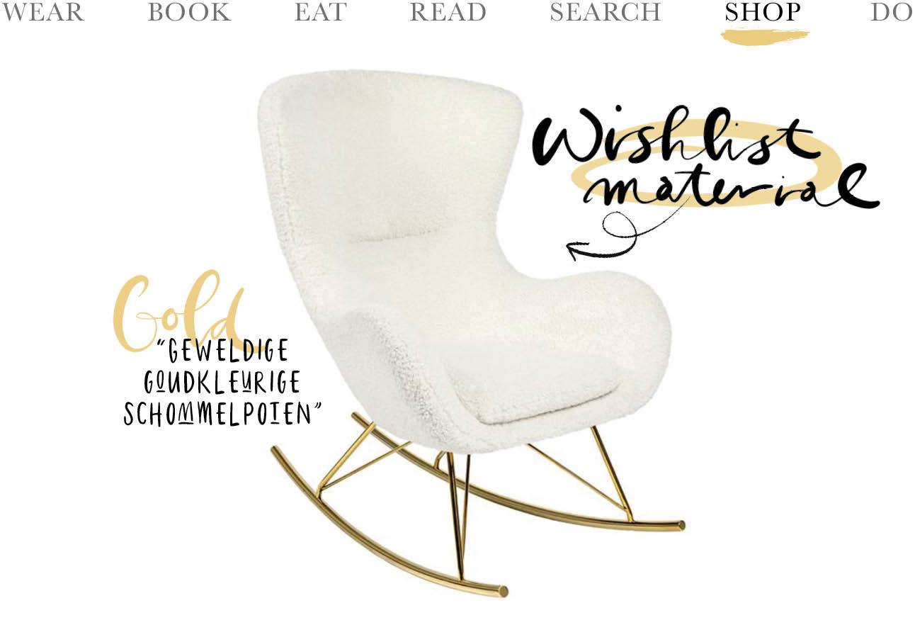 Westwing schommelstoel