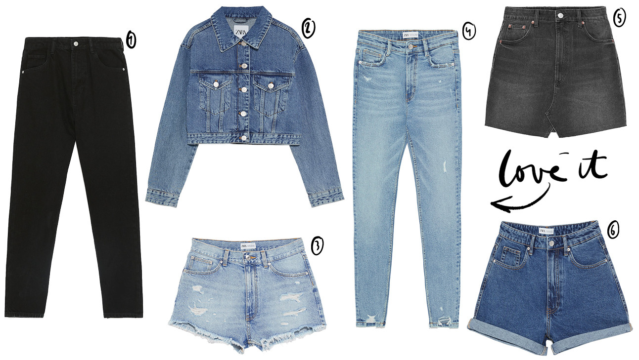 Denim items van de zara