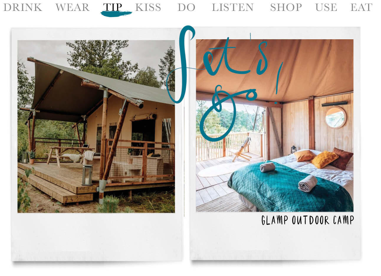 Today we tip Glamp Outdoor Camp