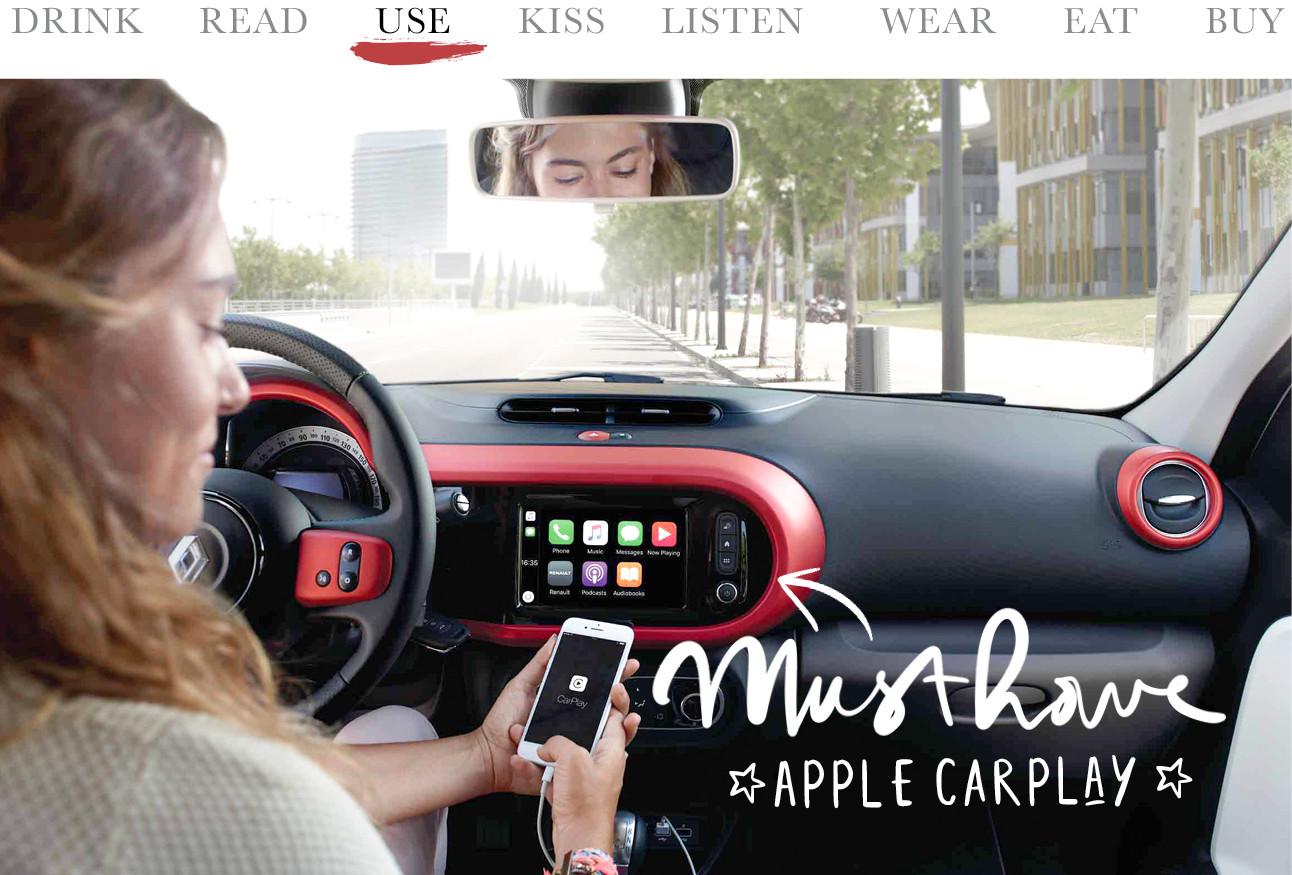 Renault Twingo auto met easylink multimediasysteem