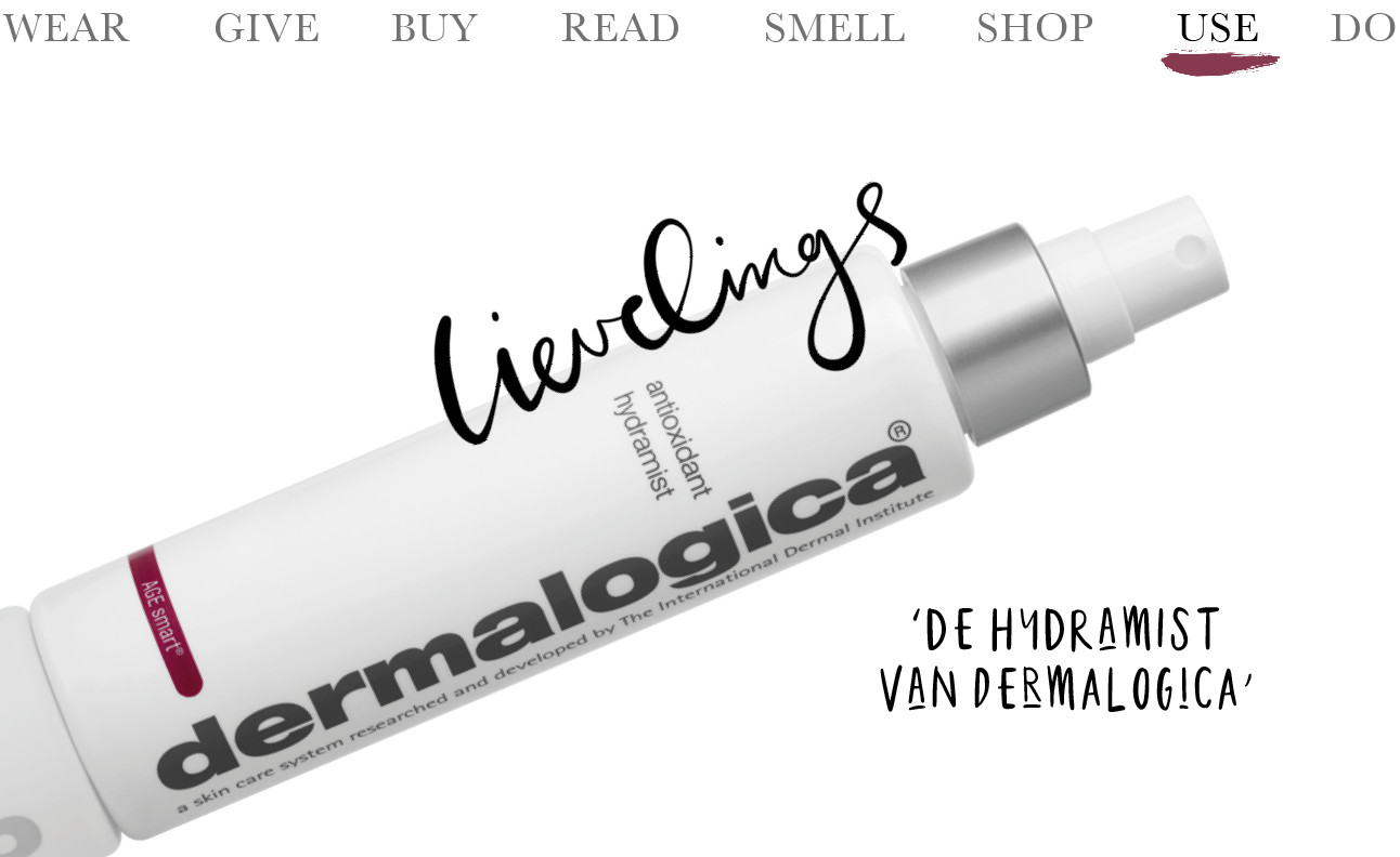 Today we use de Hydramist van Dermalogica