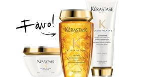 Today we… use Kérastase le shampoo en le masque