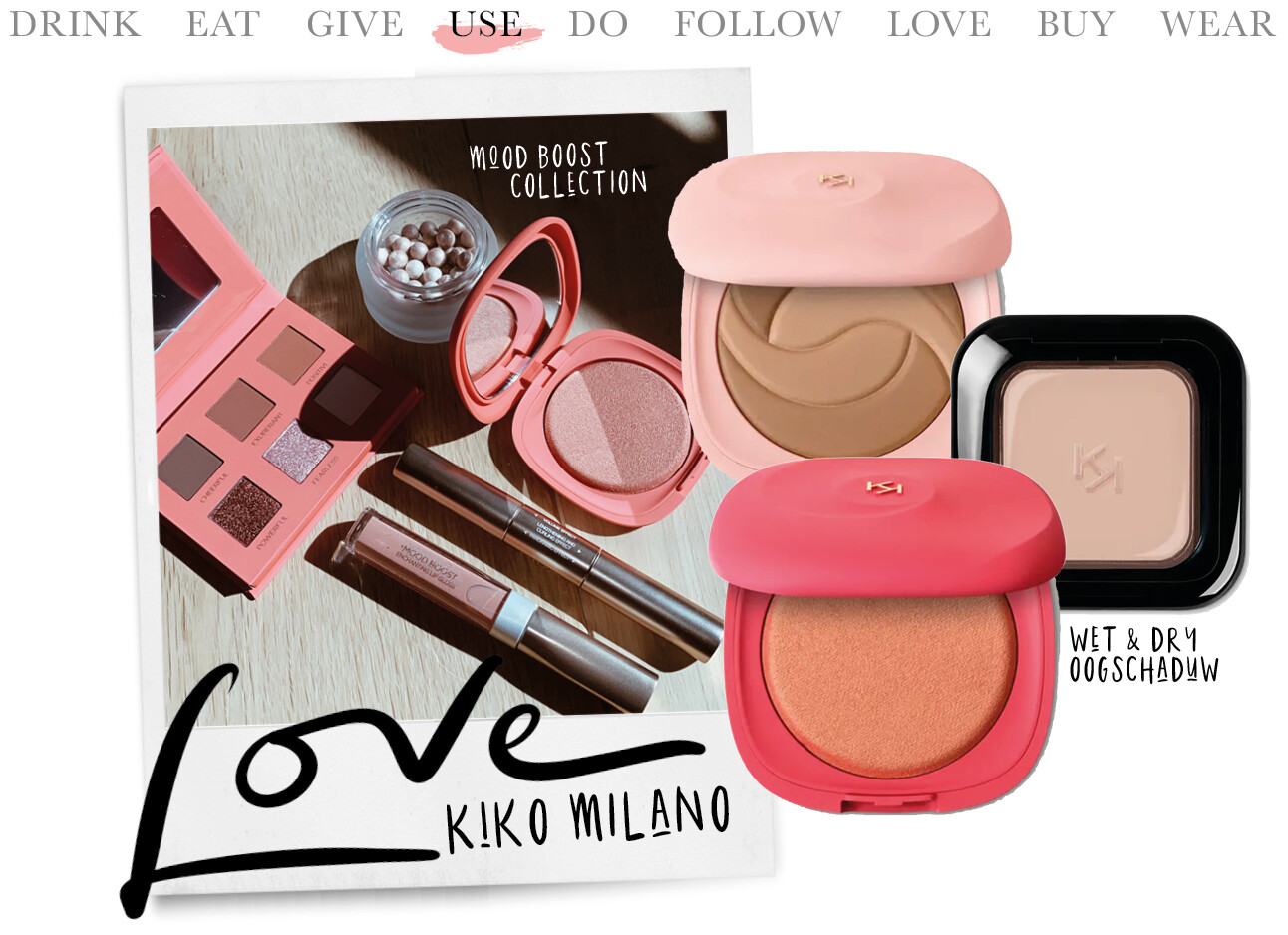 today we use kiko milano