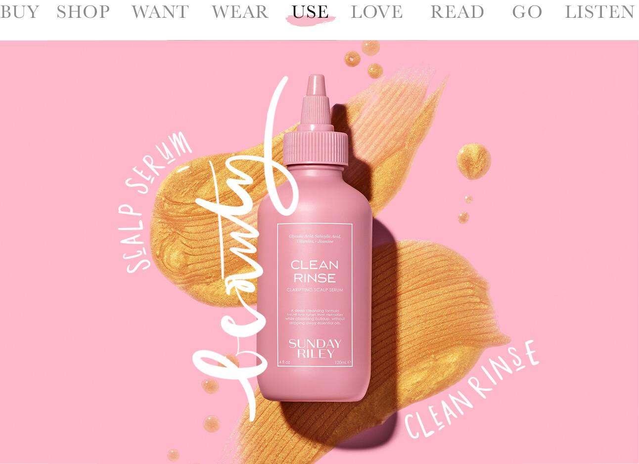 Sunday Riley Clean Rinse scalp serum Lotte beauty