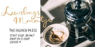 Today we use de French Press