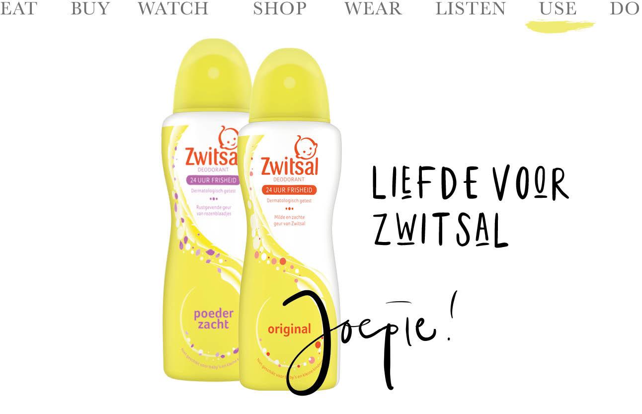 Today we use zwitsal deodorant gele flessen joepie liefde voor zwitsal