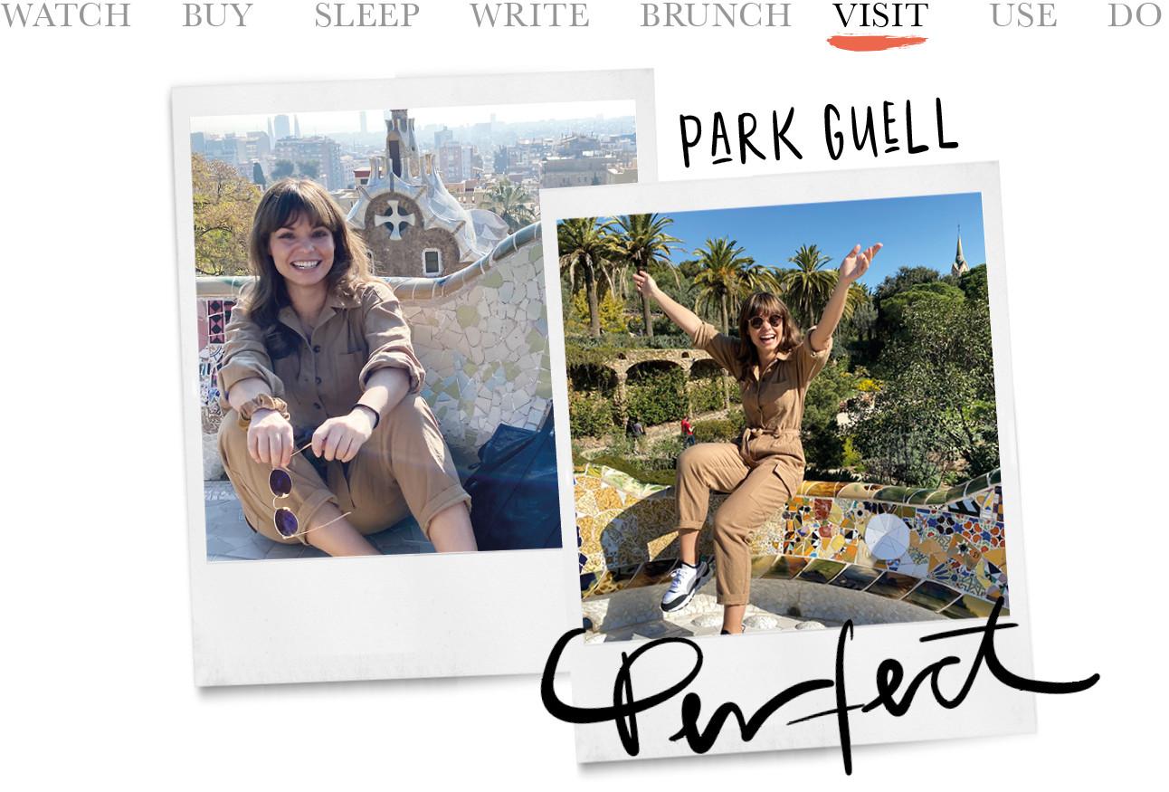 kiki in park Güell in barcelona