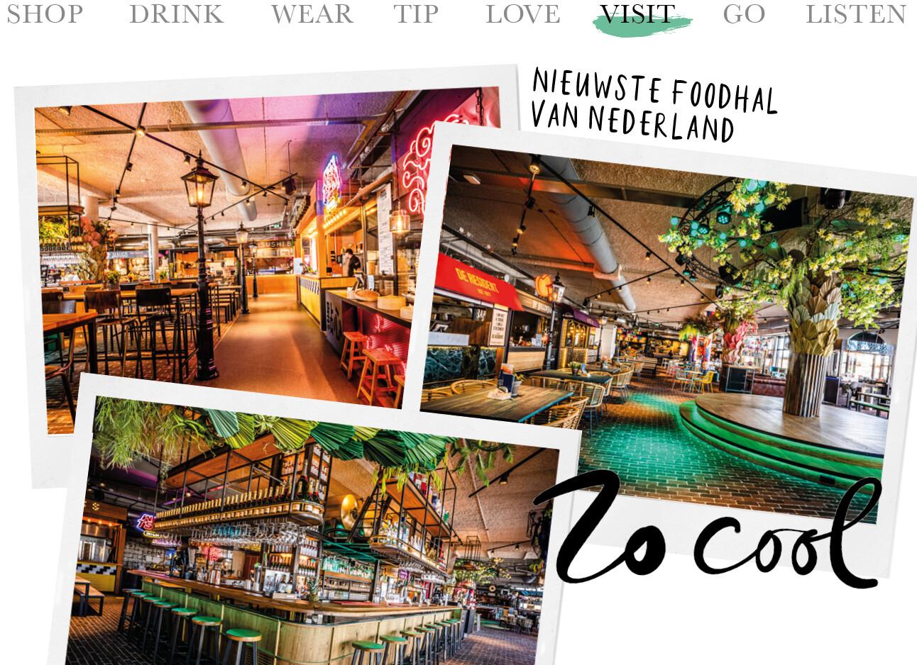 Today we visit de nieuwste foodhal van Nederland