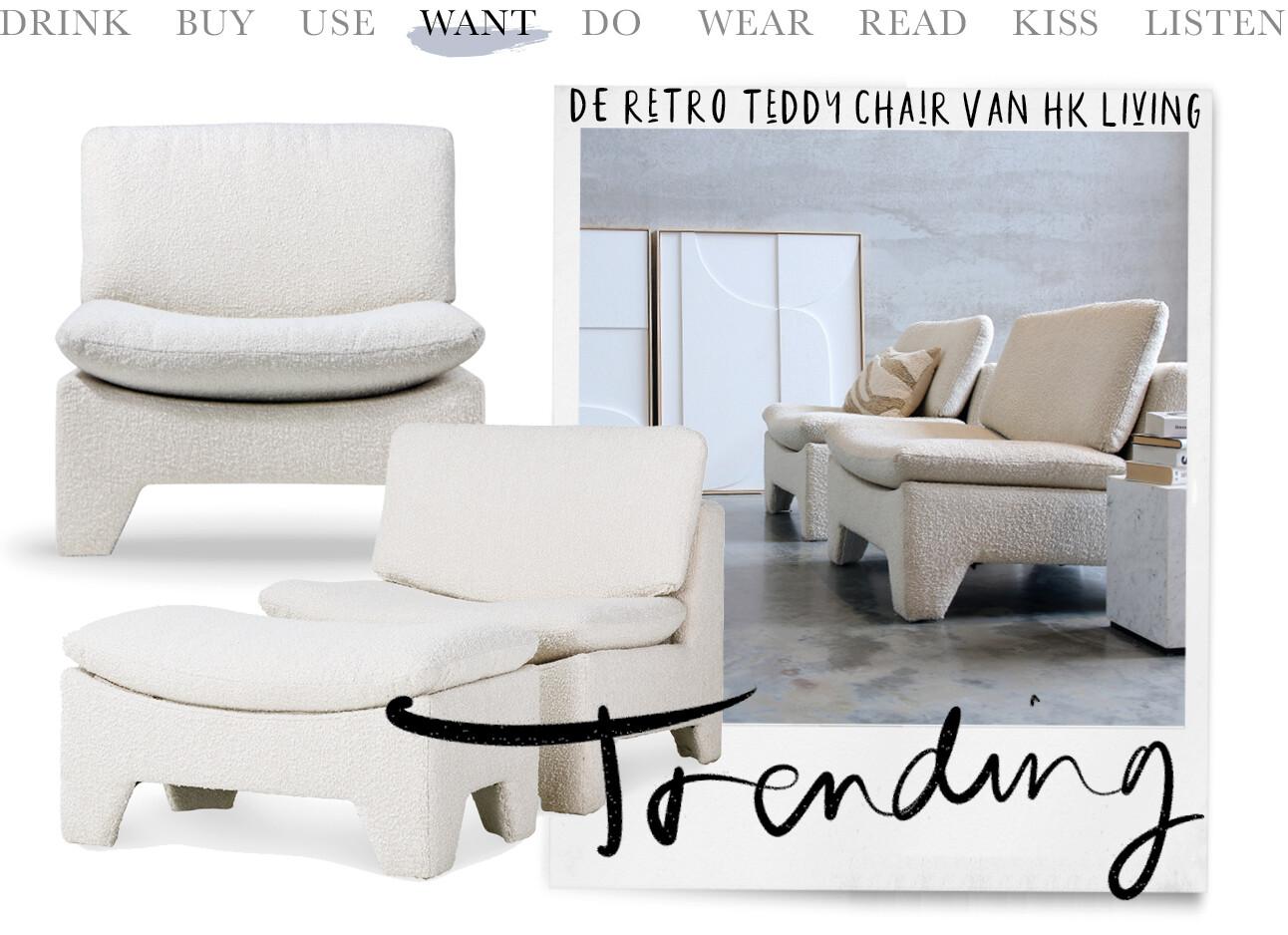 Today we want - de retro teddy chair van HK Living.