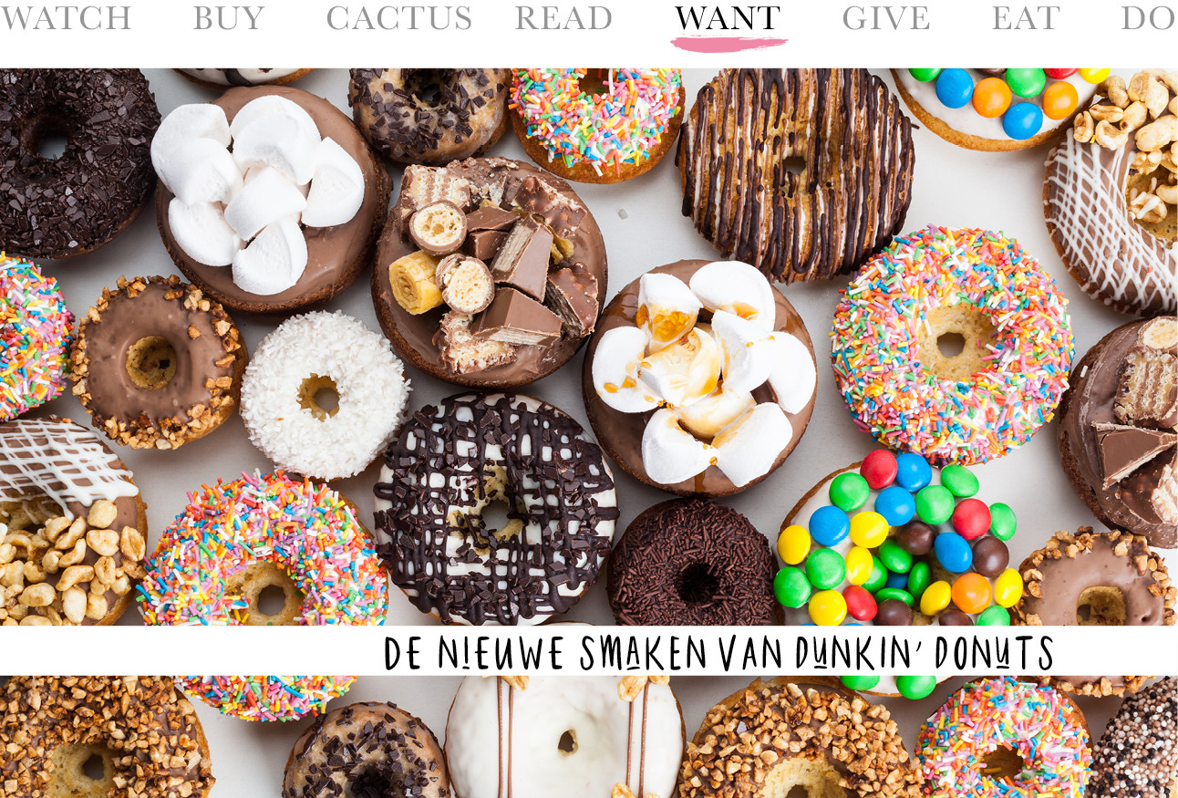 Today we want - de nieuwe smaken van Dunkin' Donuts