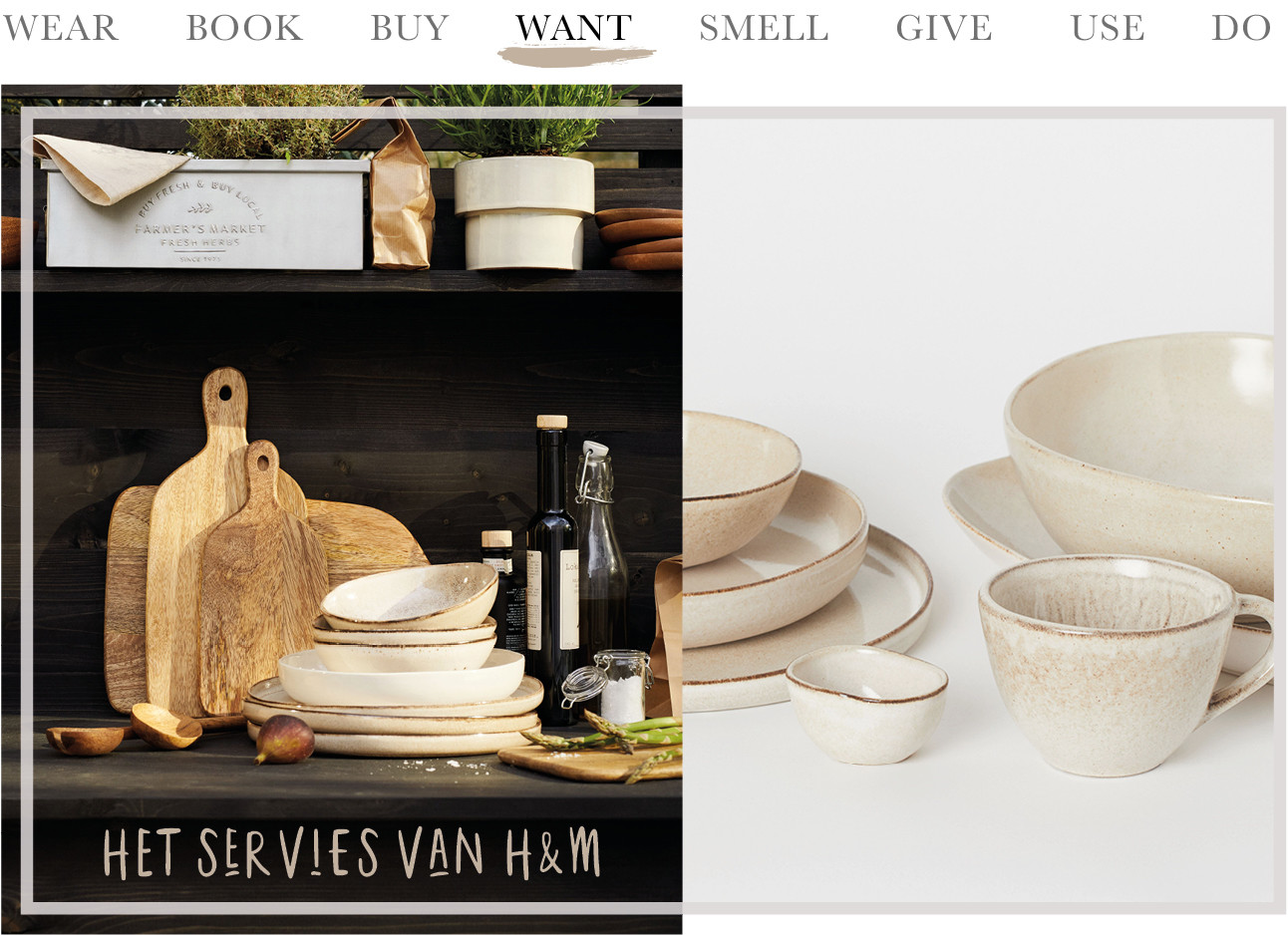 Today we want het servies van H&M