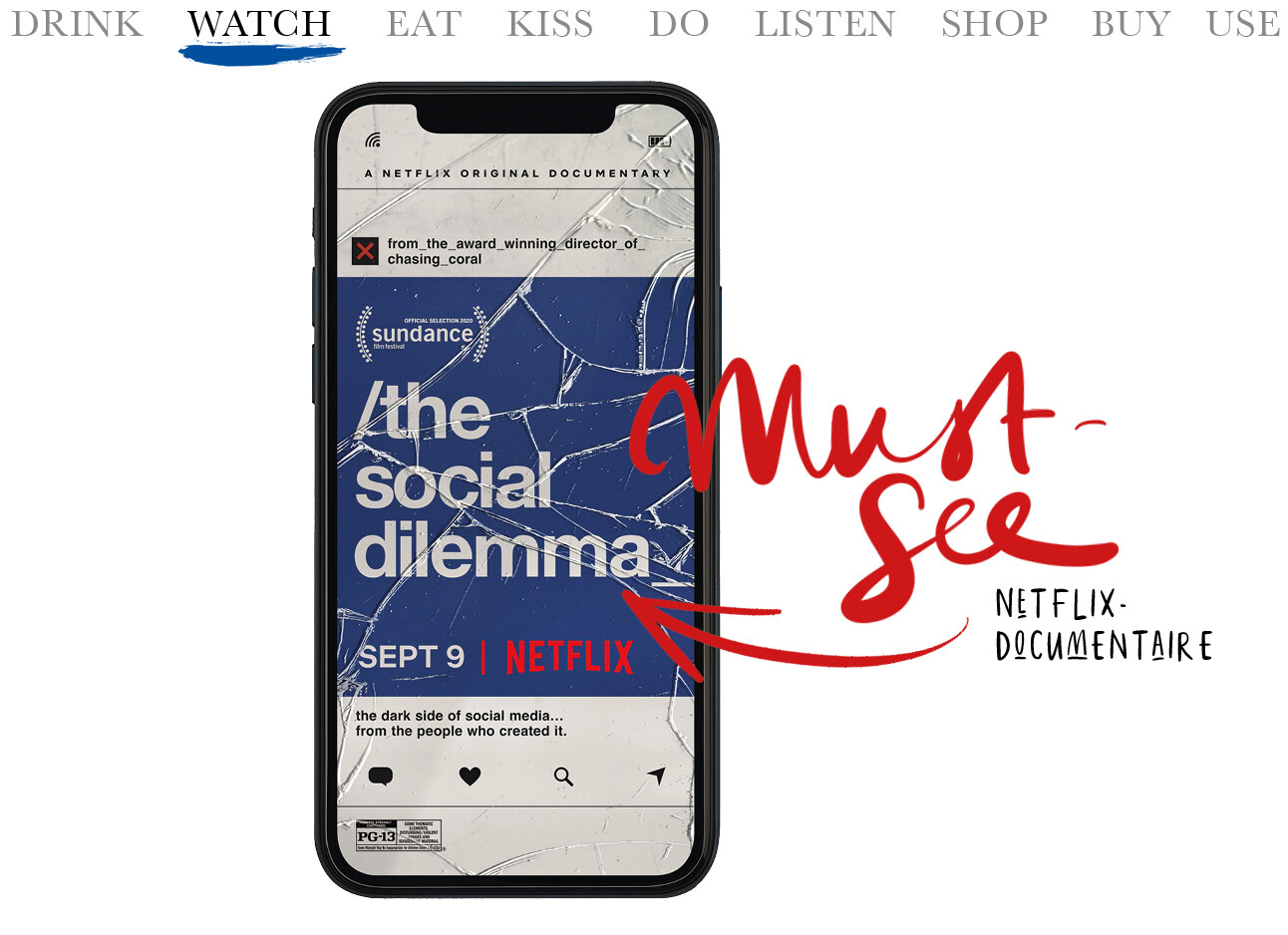 Today we watch The Social Dilemma