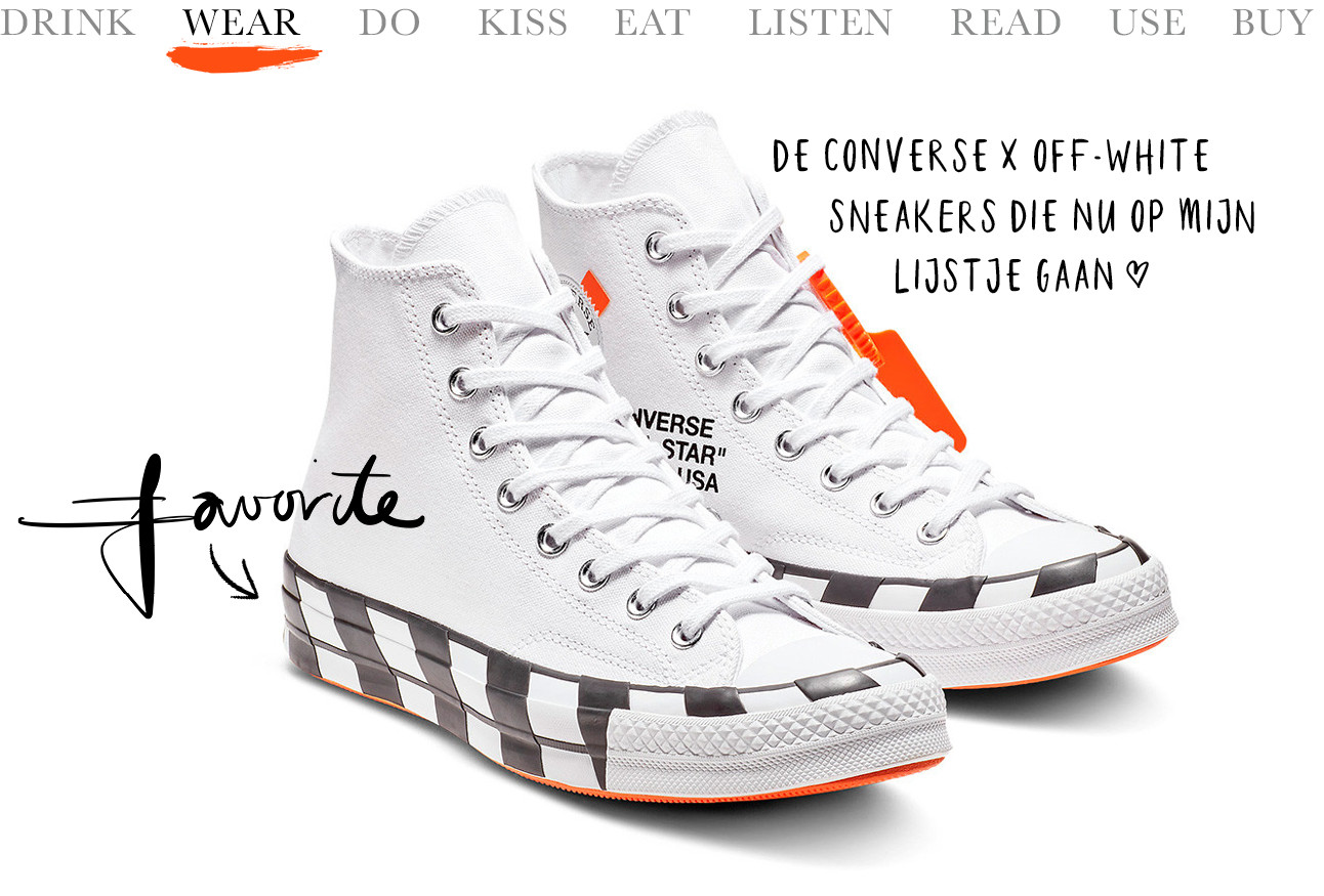Converse x off-white sneakers