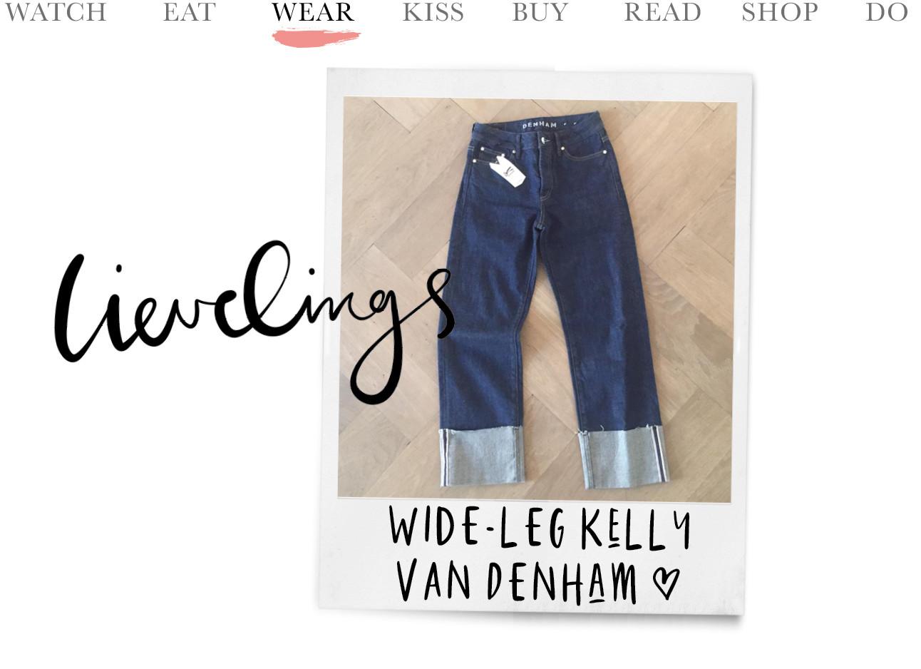 kelly wide leg van denham jeans favoriet