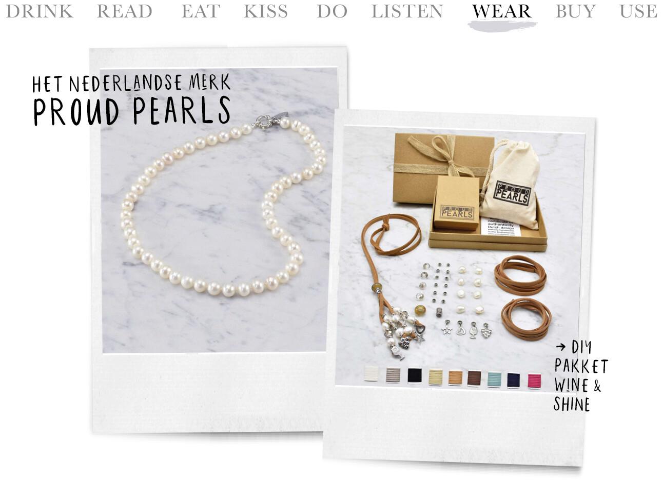 Een essential parel ketting en een dit pakket van het Nederlandse merk Proud Pearls