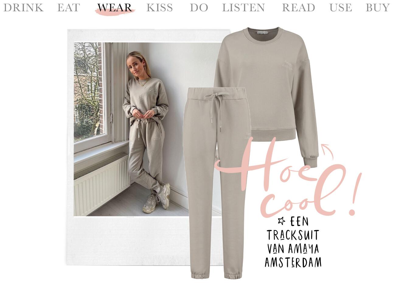 Tracksuit van Amaya Amsterdam