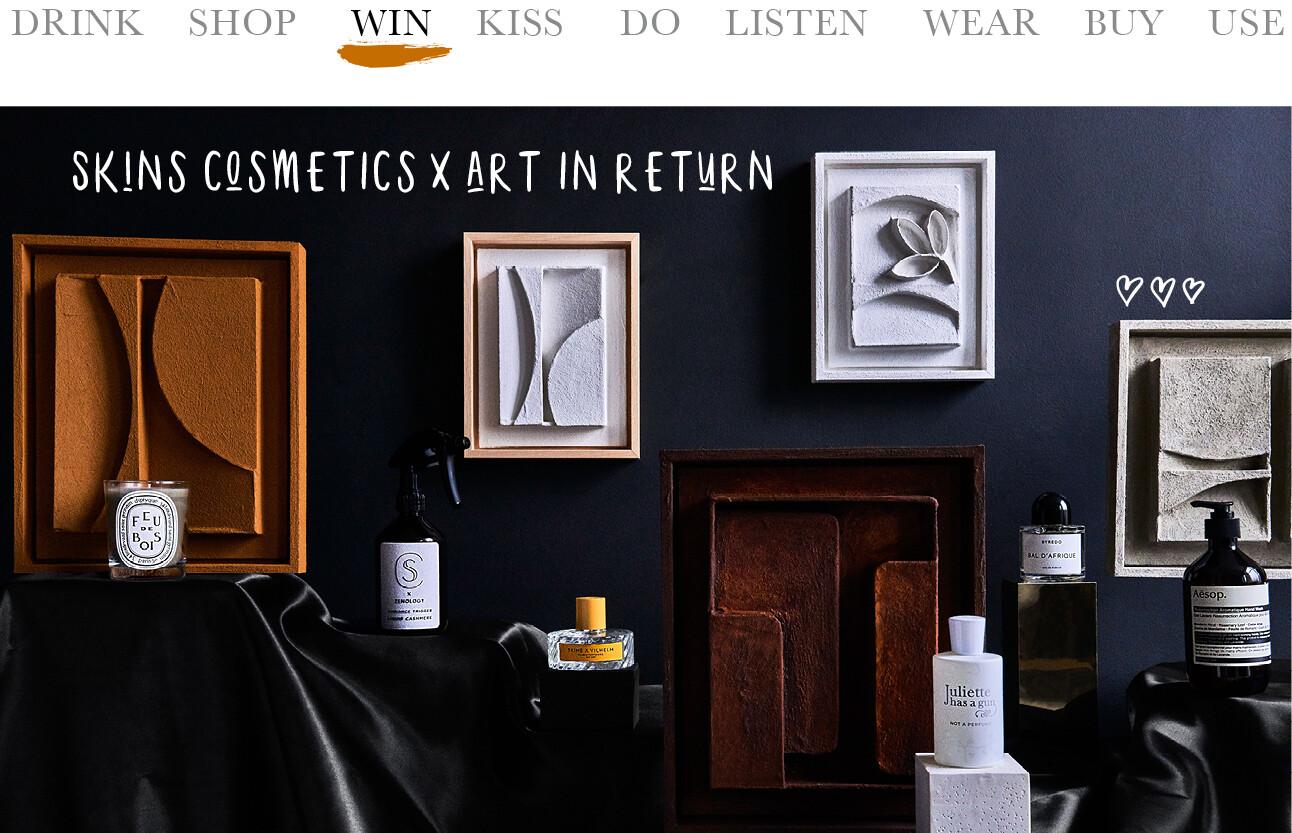 Skins cosmetics x Art in return 20 jaar
