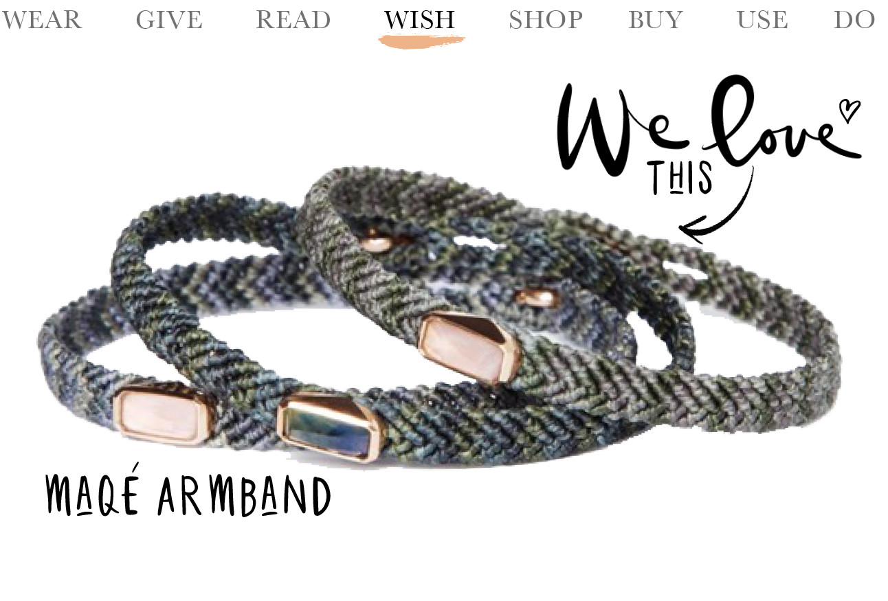 Today we wish maqu armband