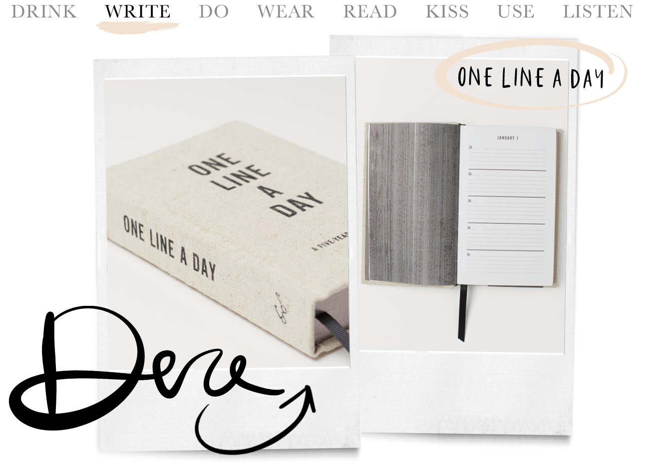 Today we write one line a day