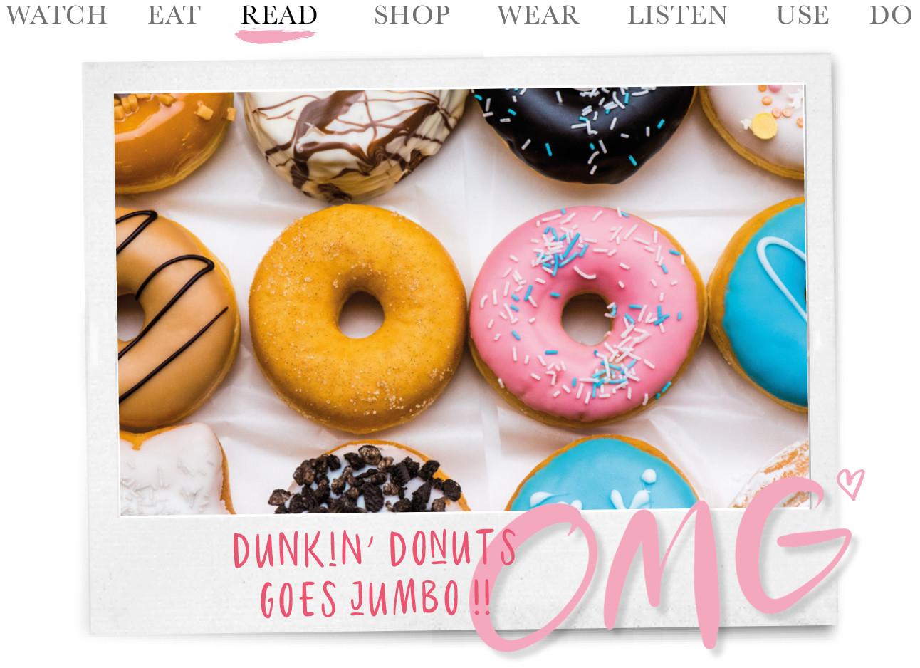 Dunkin donuts smaken