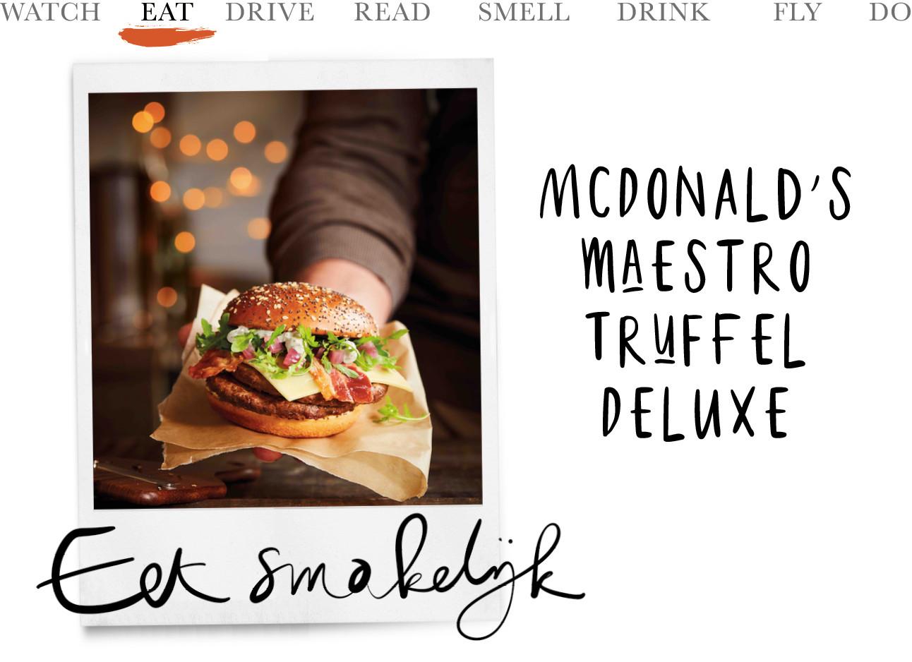 een afbeelding van de nieuwe burger met truffel van mcdonalds